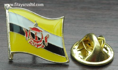 Brunei Flag Lapel Hat Cap Tie Pin Badge Negara Brunei Darussalam Abode of Peace